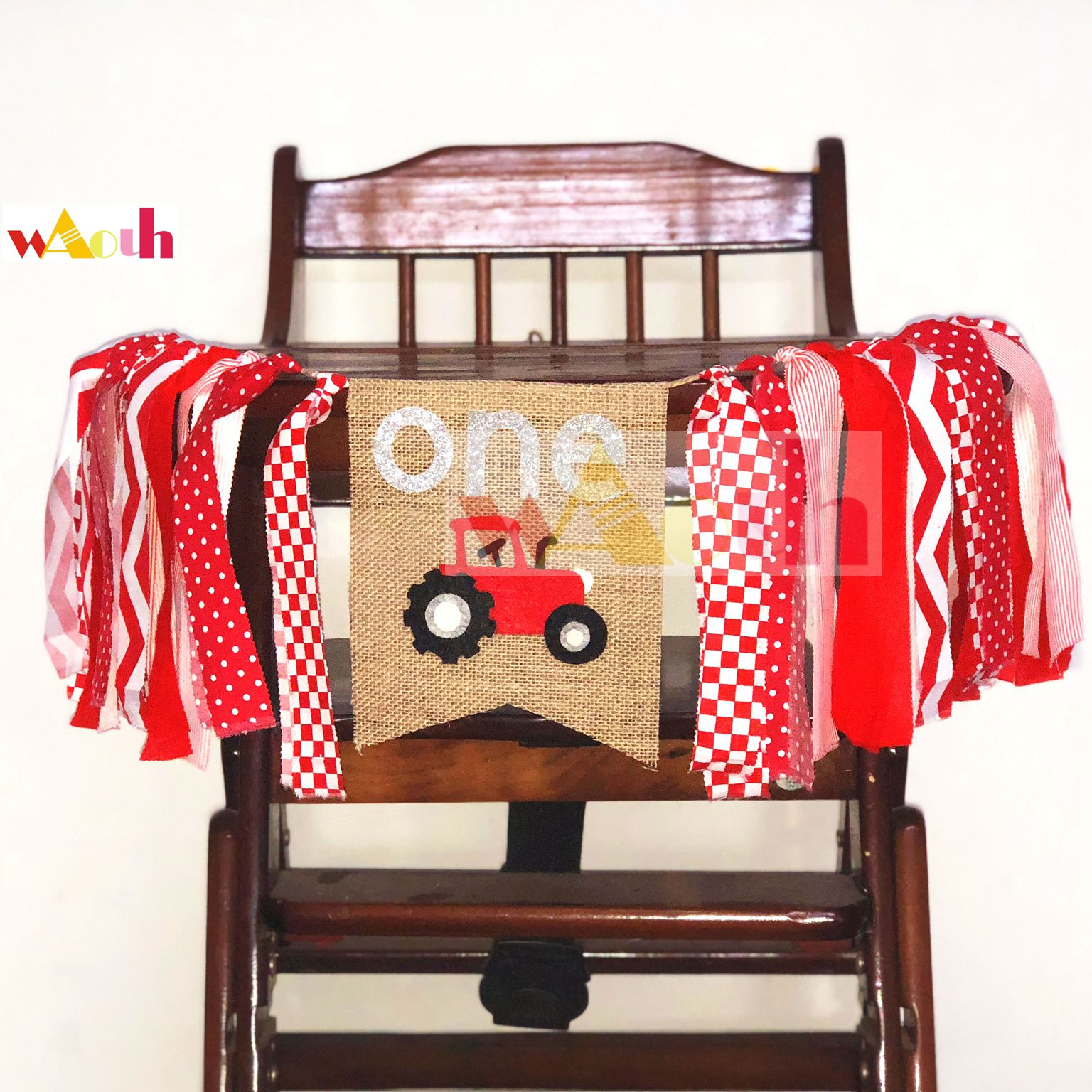 Small truck Highchair Birthday Banner Bumble Bee Party Photo Prop Bunting Backdrop Garden Tea Cake Smash baby room decoration