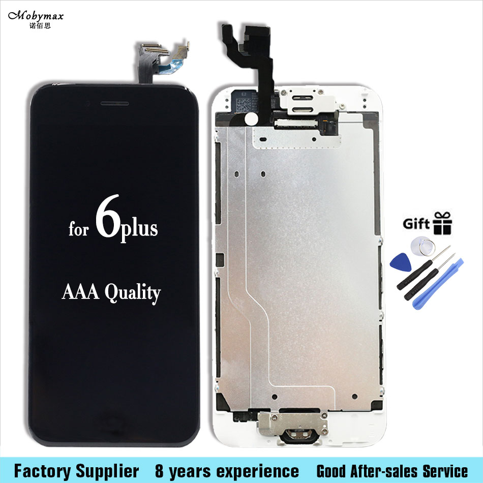Camera Home Button Black white LCD Screen Digitizer Assembly display with Tools for iPhone 6+ plus 5.5inch with tools