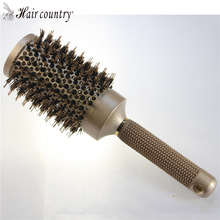 53mm Ceramic Iron Radial Round Comb Hair Dressing Brush Salon Styling Barrel Free Shipping Plastic Combs