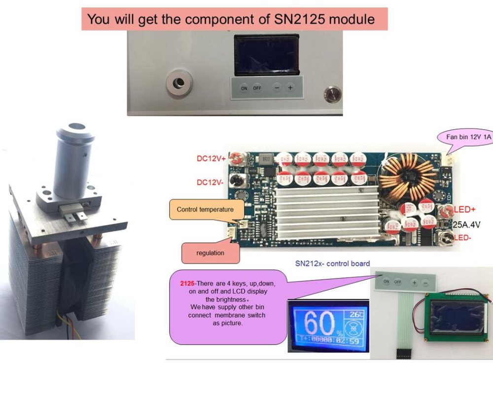 endoscope LED light source 120W fiber lighting laparoscopy light source phlatlight cbt140 controller keyboard LCD display SN2125