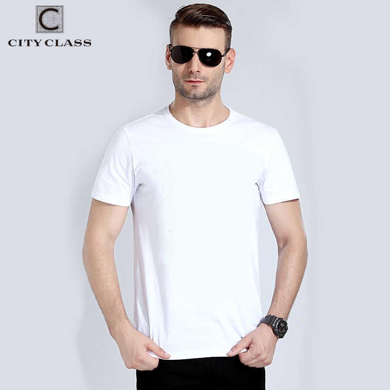 Сity Class 100% топ хлопок мужская футболкa плотная белый Цвет Базовая футболка для мужчин удобные повседневные Модные Для мужчин Фитнес футболки 7546 вт