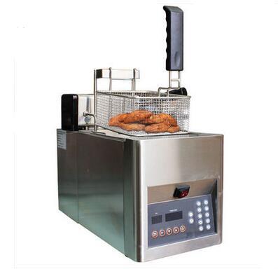 Shentop STWA-DZS8 Desktop Deep Fryer Machine free shipping Single Tank Automatic deep Fryer Machine