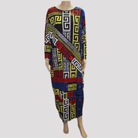 2016 Fashion Brand Loose Women Maxi Dashiki Dress Bazin Print Elastic African Style Plus Size Femmes