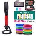 2020 USB 3D stift plus mit sicher filament 1 75mm Weihnachten/geburtstag geschenk mit schöne leder tasche geeignet für familie creation