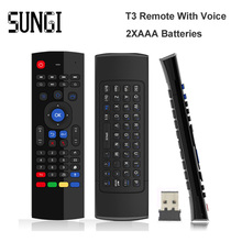 MX3 USB Wireless Keyboard 3 in 1 Air Fly Mouse QWERTY GYRO Sensing Remote IR Learning With Voice Microphone For Android TV Box