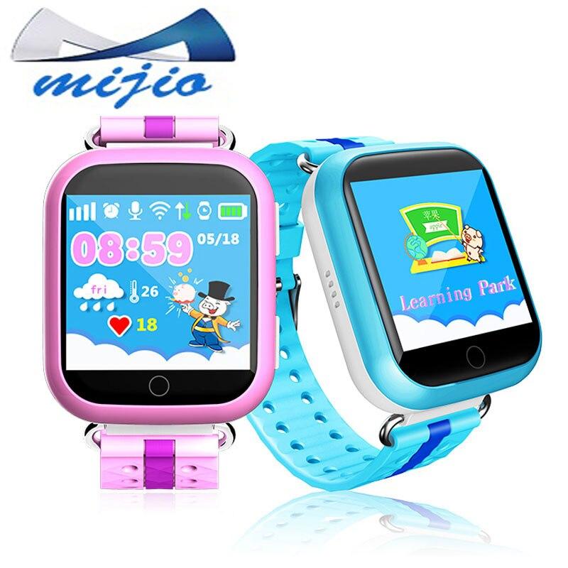 Смарт-Детские часы телефон Q750 q100 WI-FI сенсорный экран SOS вызова расположение устройства GPS трекер для детей безопасный PK Q50 Q90 детские часы
