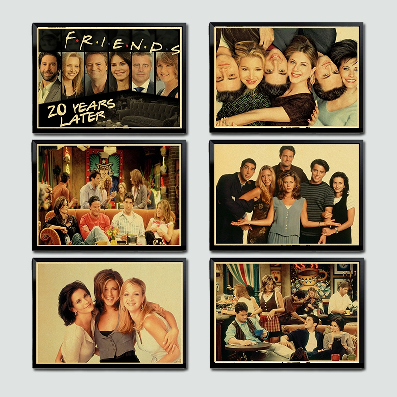 TV Series Friends Posters Kraft Paper Retro Poster Home Decor Wall Sticker Modern Paintings Decorative Wall Poster