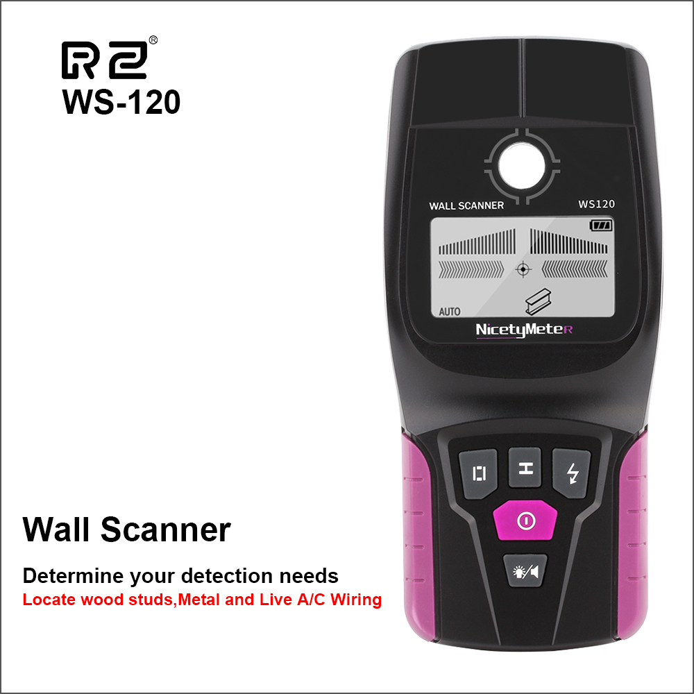 RZ numérique mur métal Scanner portable professionnel multifonction mur détecteur métal bois câble fil Stud Pipe Finder Scanner