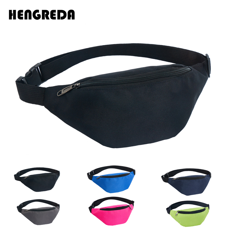 Women Fanny Pack 2018 Waist Bag Hengreda Travel Hip Bum Pocket 600D Waterproof Festival Party Sling Chest Daypack Belt 130cm(China)