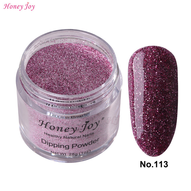 28g Box 113 Rose Purple Glitter Easy To Use Dip Powder Nails