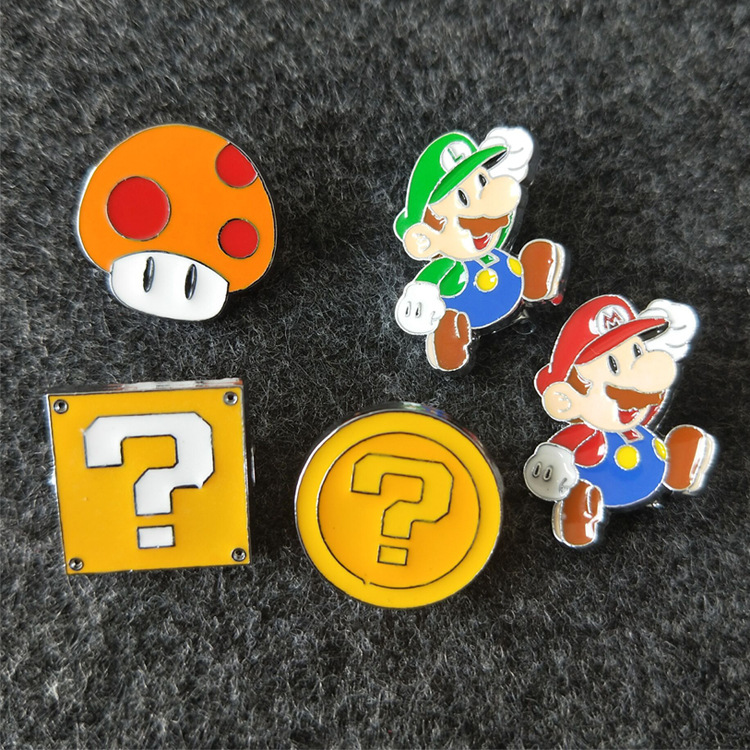 Ingenious Super Mario Brothers Mushroom Metal Pins Brooches Cute Bag Breastpin Pin 1pcs Jewellery & Watches Costume Jewellery