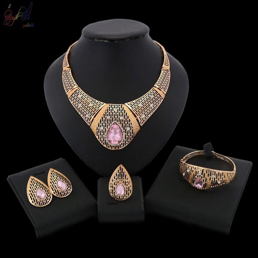 YULAILI populaire 2018 collier de mariage ensemble de bijoux de mariée pour les femmes élégant cadeau de fête accessoires de Costume de mode