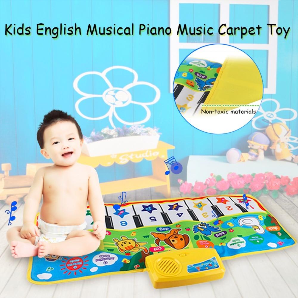 OCDAY 71X28cm Baby English Musical Piano Music Carpet Baby Kids Play Mat Blanket Educati ...