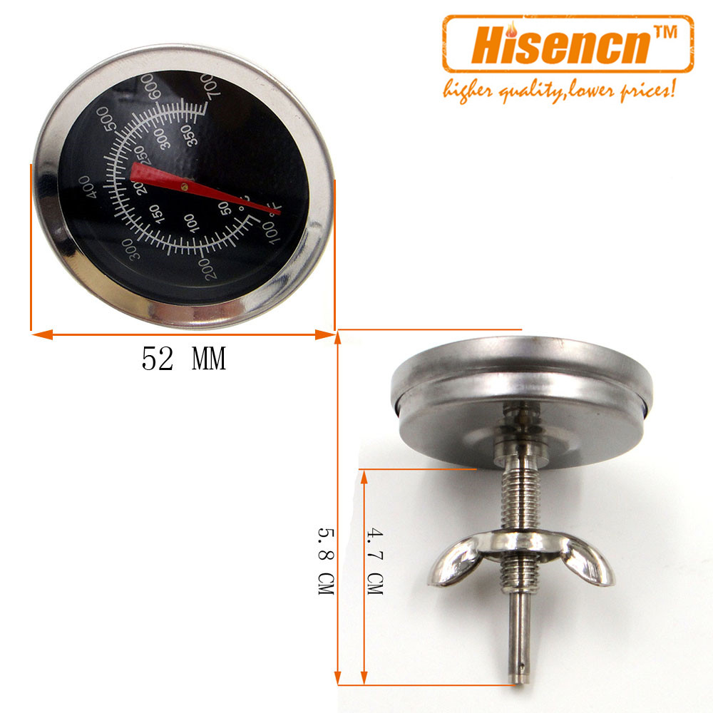 Hisencn 01t03 Barbecue Bbq 52mm Grill Oven Thermometer Smoke Grill - Bbq Temperatuurmeter