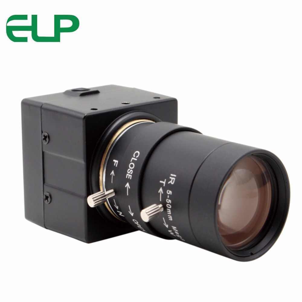 ELP 1280*720 HD USB Webcam 5-50mm Varifocal Lens OV9712 Security Surveillance Machine Vision USB Camera with 3m USB Cable