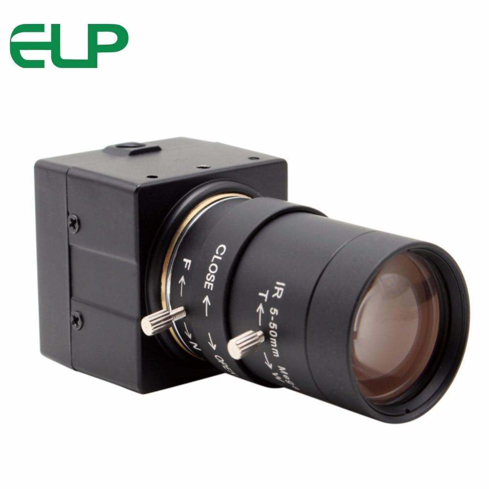 PEL 1280*720 USB caméra 5-50mm objectif à focale variable OV9712 Sécurité CCTV Surveillance machine vision usb caméra avec 3 m usb câble