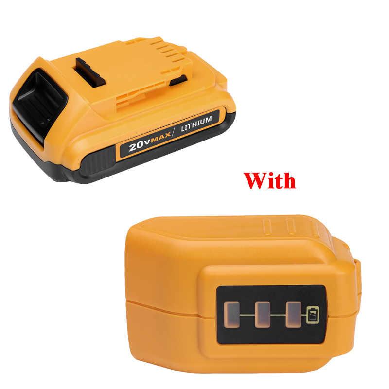 14,4 V 20 V литий-ионный 2000 мА/ч, Перезаряжаемые батареи Мощность инструмент аккумулятор для Dewalt DCB203 DCB181 DCB180 DCB200 DCB201 DCB201-2