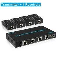 1x4 HDMI удлинитель сплиттер 60 м 1080 P 196ft 4 Порты и разъёмы HDMI Extneder Splitter 1 до 4 над utp cat5/cat6 кабель Ethernet