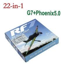 Лучшее качество 22 в 1 симулятор 22в1 USB RC симулятор для поддержки Realflight G7.5 G7 G6.5 G5 Flysky FS-I6 TH9X Phoenix5