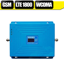 GSM 900mhz DCS 1800mhz WCDMA 2100mhz Repeater Tri Band Cellular Signal Booster UMTS 3G 4G LTE 1800mhz Amplifier 70dB Gain 20dBm