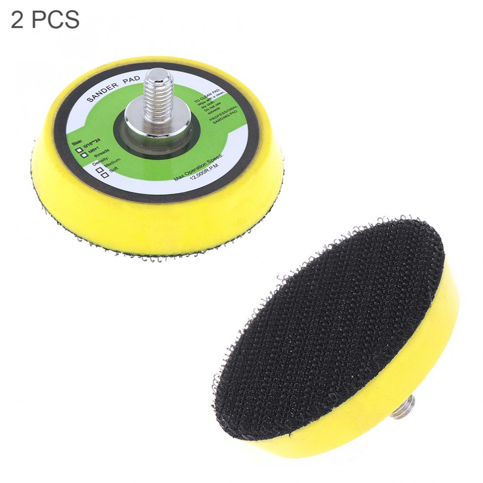 2pcs 2 Inch 12000RPM Double-acting Sanding Pad Plate Pneumati Orbital Sander Disc With Hairy Surface For Pneumatic Air Polisher