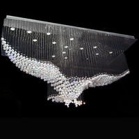 New Modern creativity Bird shape design crystal lighting chandelier large hall lights contemporary chandeliers