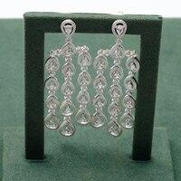 Местные focal серебряная капля воды 925 дизайн изысканно висячие серьги