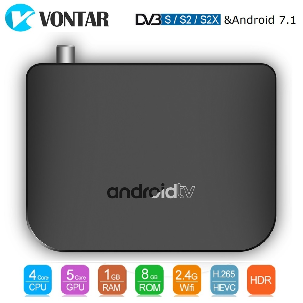 VONTAR DVB S2 Smart TV Box Android 7 1 Amlogic S905D Quad Core 1GB 8GB 1080p