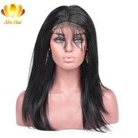 Али afee волос бразильский Прямо предварительно сорвал 360 Синтетический Frontal шнурка волос с ребенком волос не Реми Человеческие волосы беспла...