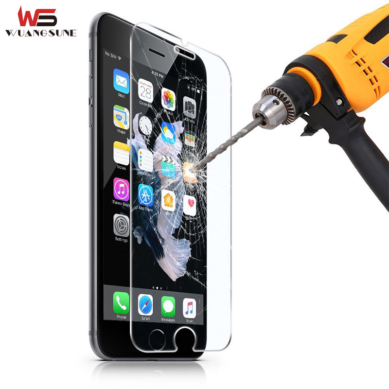 For Apple iPhone 4S 5 5S SE 6 6S 7 Plus Premium Tempered Glass Screen Protector Film Explosion-proof 5s on the protective glass