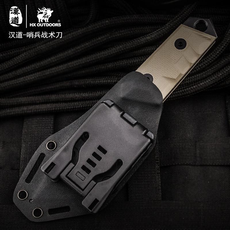 Купить с кэшбэком HX OUTDOORS High Hardness Straight Knife AUS-8 Blade G10 Handle Outdoor Survival Knife Multi Tactical Hunting Knives EDC Tools