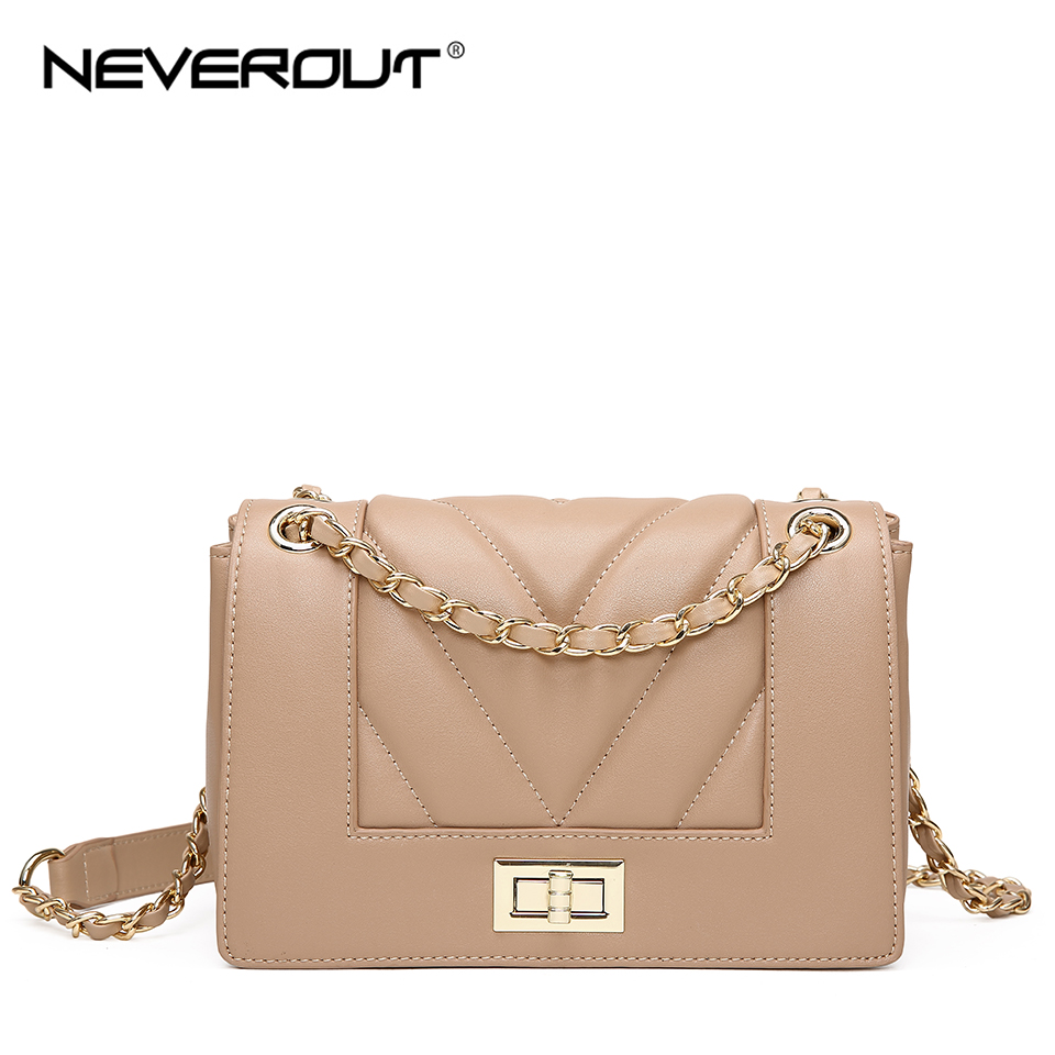 NEVEROUT Thread Style Leather Bag Fashion Mini Shoulder Crossbody Messenger Bag Small Flap Bags Classic Sac