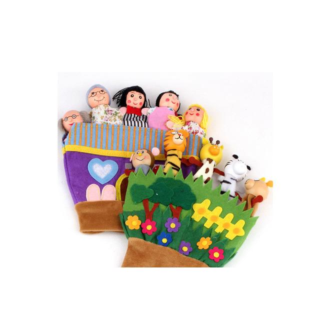 1 unids Envío gratis animales con los pies se refiere a accidentalmente marionetas de Mano del bebé buen ayudante historia juguetes de peluche 5113