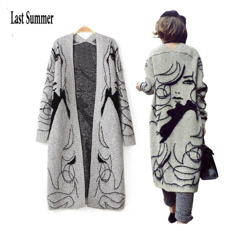 Δωρεάν αποστολή Γυναικεία πουλόβερ με μακριά μανίκια Γυναικεία πουλόβερ 2018 Φθινοπωρινά χειμώνας Νέο μακρύ πλεκτό γυναικείο ζακέτα γυναικών ζακέτα