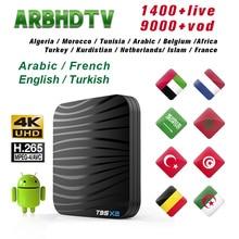IPTV Arábica Caixa 1 mês Grátis TV IP Bélgica França T95X2 Assinatura IPTV Marrocos 4 K Francês Caixa De TV Completo HD IPTV Turquia Curdistão