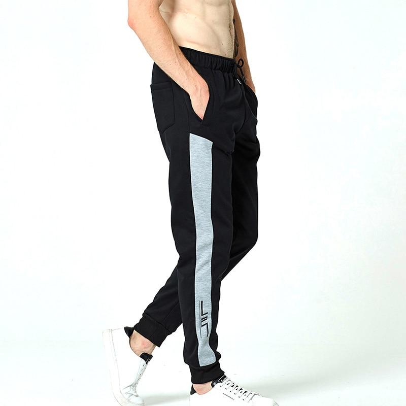 Workout Jogging Pants Men Striped Sport Sweatpants short ang long pants Men Fitness Joggers Bodybuilding Crossfit Trouser(China)
