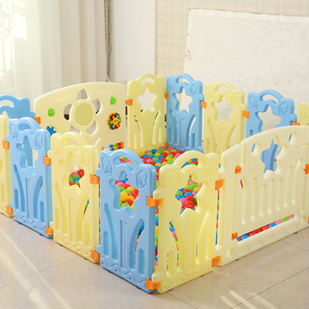 Portable Baby Playpen Foldable Indoor Kids Fence Plastic Ball Pool Children 39 s Playpen Safety Baby Bed Fence Security Barrier in Baby Playpens from Mother amp Kids