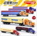 2016 Hot Niños de juguete modelo de coche 1:48 grande serie de camiones Americanos camión Aleaciones Modelo coches Niños regalo de cumpleaños Entrega Gratuita