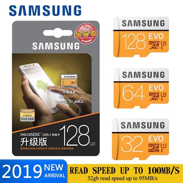 بطاقة ذاكرة سامسونج مايكرو sd 128gb 64gb SDHC SDXC FT tarjeta بطاقة sd EVO + micro sd 32 gb C10 بطاقات UHS TF عبر فلاش مايكرو sd