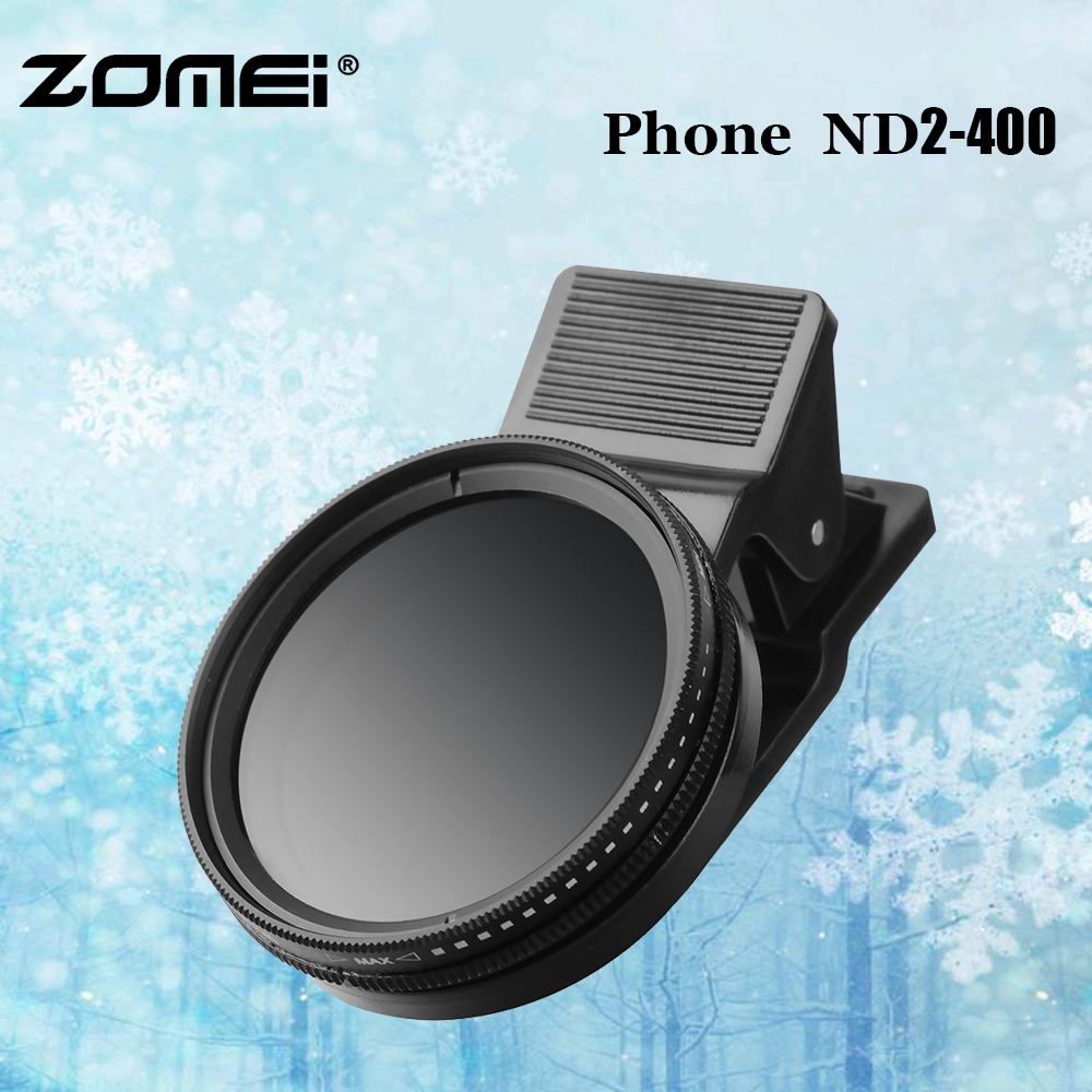 Zomei Original <font><b>Phone</b></font> ND2-400 Neutral Density Fader Variable ND <font><b>filter</b></font> Adjustable ND2 to ND400 For Cellphone <font><b>Camera</b></font> Lens Glass image