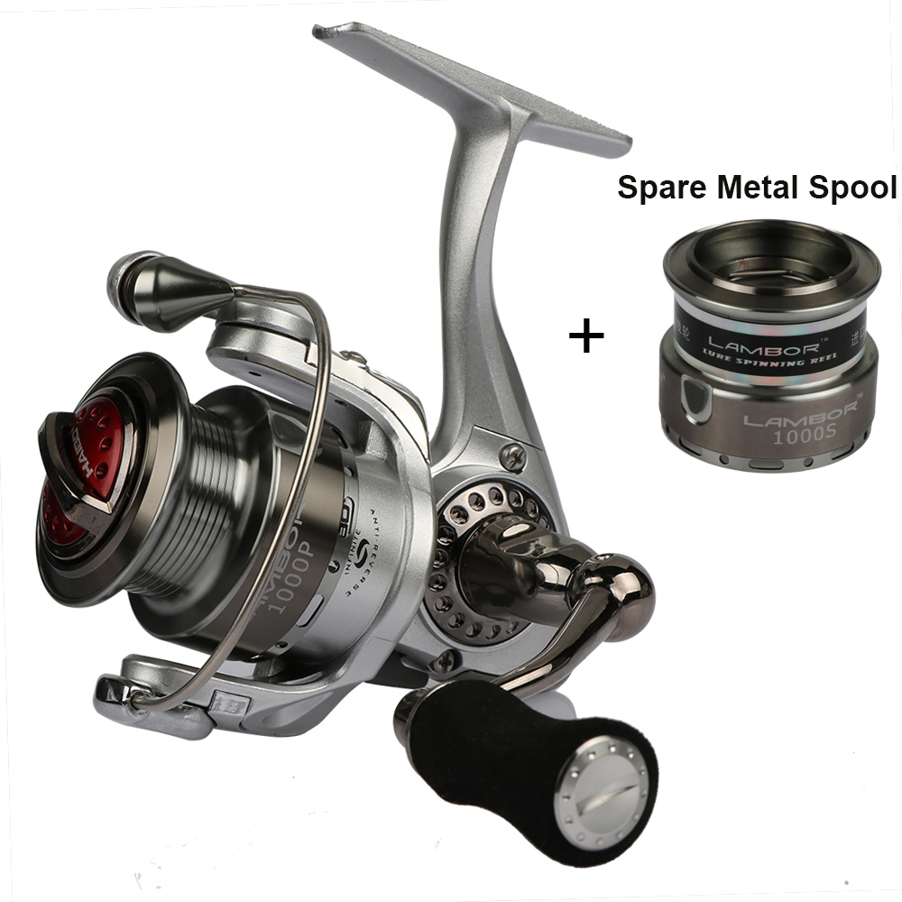 Haibo Lambor Spinning Fishing Reel Metal Spool Lure Reel 8BB 5.2: 1 Max Drag: 6.5kg Fishing Spinning Coil with Spool Spool
