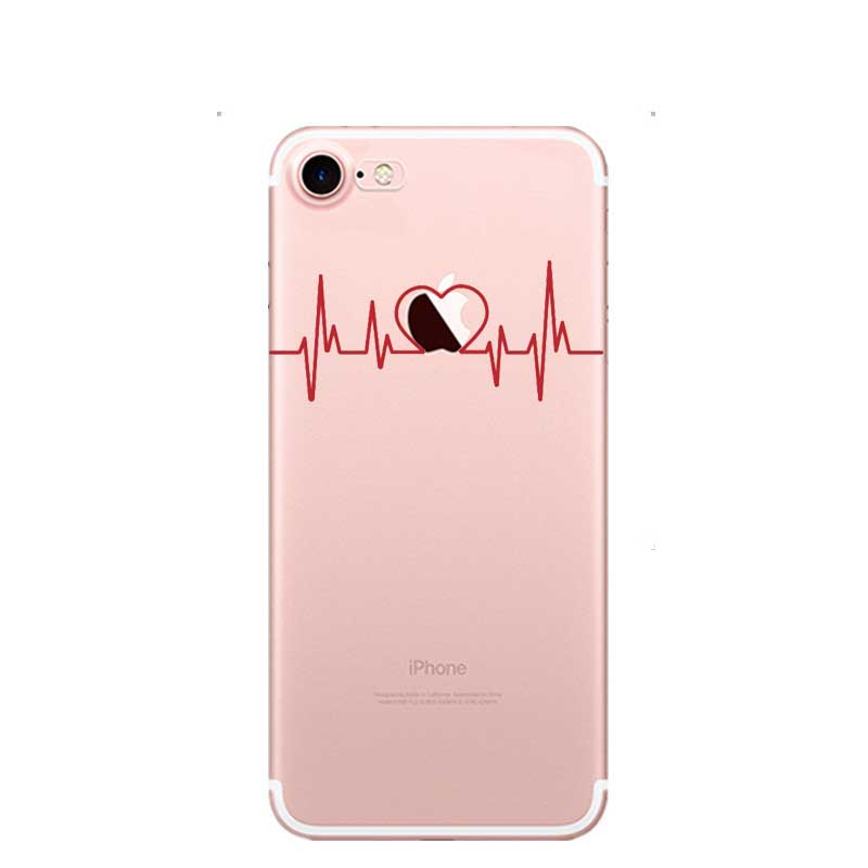 Phone Pouch Slim Crystal Clear Tpu Silicone Protective Newest Nurse Doctor Dentist Phone Cover Cases For Apple Iphone 5 5s 6s Plus 7 8 Plus