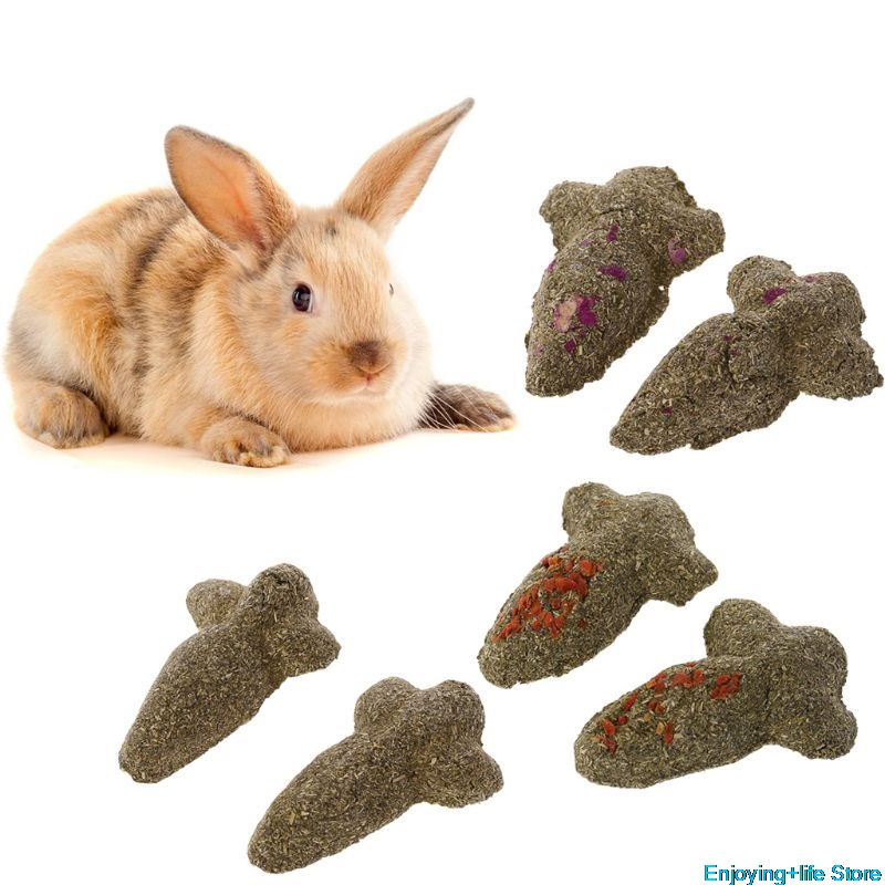 2pcs Carrot Shape Hamster Teeth Grinding Cake Cookie Small font b Pets b font Rabbit Chinchilla