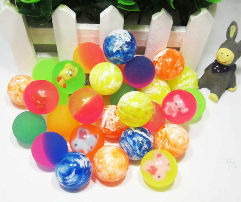 Hot Sale 27mm Bouncy Ball High quality child elastic rubber ball Children of pinball 1pcs