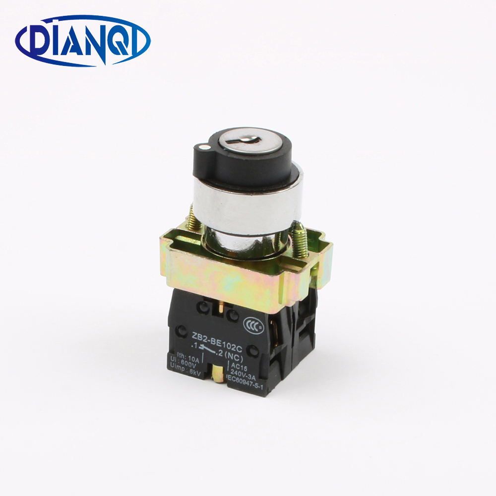 XB2 BG25 xb2-bg25 2 position key operated selector selector pushbutton switch N/O N/C push button switch