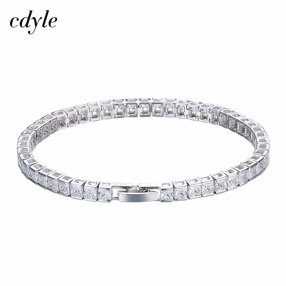 Cdyle Crystals from Swarovski S925 Sterling Silver Bracelets Women Bracelets Fashion Jewelry Austrian Rhinestone Bijoux Elegant a suit of cute rhinestone elephants alloy bracelets for women