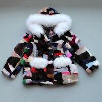 JKP 2018 новые детские кожи меха пальто замшевое пальто куртка для девочек зима холодная вода куртка модная куртка ZPC 160