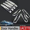 Хром внешний дверные ручки обложки для Chevrolet Lacetti Optra Daewoo Nubira Suzuki Forenza холден вива наклейки стайлинга автомобилей