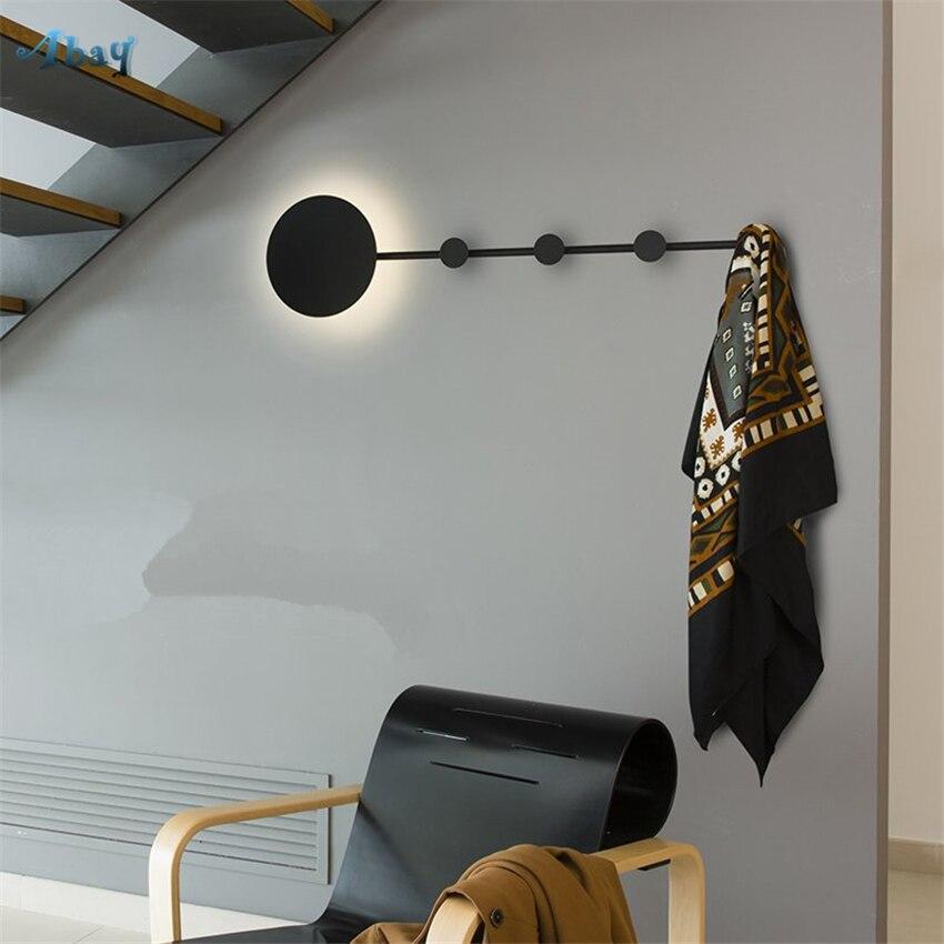 2019 Mode Nordic Designer Ijzeren Muur Lampen Gangpad Entree Woonkamer Wandlampen Nachtkastje Slaapkamer Kleding Kapstok Led Decoratieve Armaturen Superieure (In) Kwaliteit