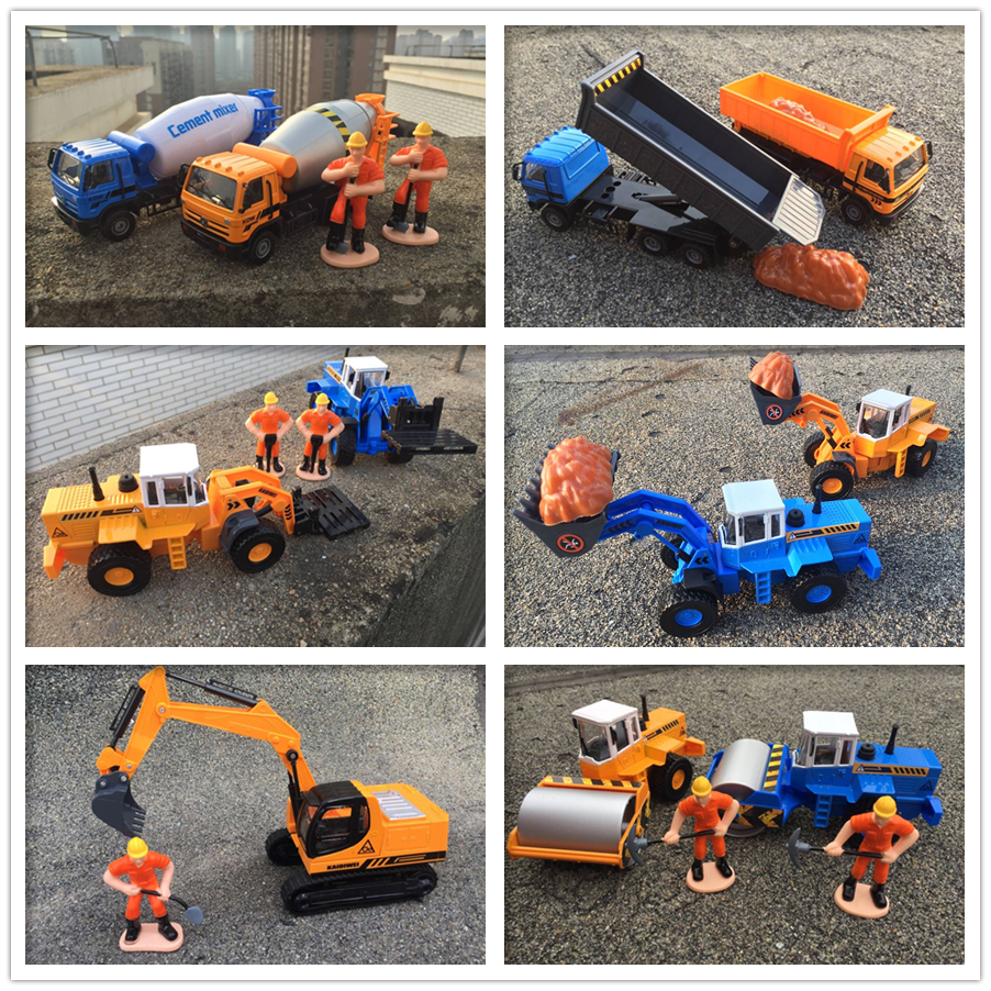 KDW Alloy car model road roller Crawler excavators Forklifts Mixer truck Forklifts Combination of engineering vehicles